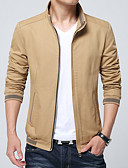 cheap Men's Jackets & Coats-Men's Basic Slim Jacket - Solid Colored Stand