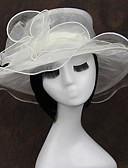 cheap Mother of the Bride Dresses-Chiffon / Fabric / Organza Fascinators / Headwear with Floral 1pc Wedding / Special Occasion / Casual Headpiece