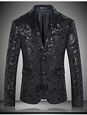 cheap Men's Blazers & Suits-Men's Sophisticated Street chic Blazer Print Notch Lapel