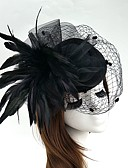 cheap Women's Headpieces-Feather / Net Fascinators / Flowers / Hats with Floral 1pc Wedding / Special Occasion Headpiece