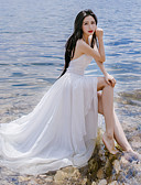 cheap Women's Dresses-Women's Holiday Chic & Modern Swing Dress - Solid Color Maxi Strap / Summer / Backless
