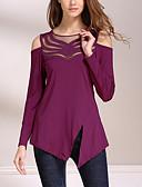 preiswerte T-Shirt-Damen Patchwork - Street Schick Alltag / Ausgehen T-shirt Gitter / Frühling / Herbst