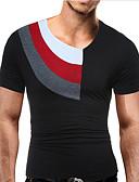 baratos Camisetas & Regatas Masculinas-Homens Camiseta - Esportes Estampado, Estampa Colorida Algodão Decote Redondo