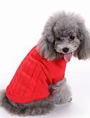 رخيصةأون كنزات نسائية-قط كلب البلوزات عيد الميلاد ملابس الكلاب سادة أحمر أخضر أزرق زهري أزرق فاتح الاكريليك وألياف كوستيوم للحيوانات الأليفة للرجال للمرأة جميل