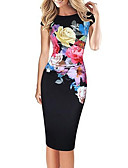 cheap Women's Two Piece Sets-Women's Plus Size Street chic Bodycon Dress - Floral Print / Floral Patterns / Slim