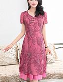 رخيصةأون فساتين مطبوعة-فستان نسائي قياس كبير عصري كاجوال طباعة ميدي مناسب للخارج