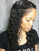 abordables Robes de Travail-Perruque Cheveux Naturel Rémy Lace Frontale Sans Colle Lace Frontale Cheveux Brésiliens Ondulation Femme Densité 130% 8-24 pouce avec des cheveux de bébé Ligne de Cheveux Naturelle Perruque