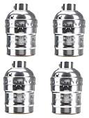 cheap Sport Watches-4 Pcs E26/E27 Socket Screw Bulbs Metal Shell Medium Base Edison Retro Pendant Lamp Holder Without Switch and Cord 110-240V