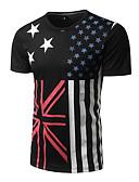 abordables Camisetas y Tops de Hombre-Hombre Punk & Gótico Chic de Calle Estampado - Algodón Camiseta, Escote Redondo