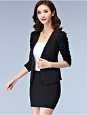 cheap Women's Blazers & Jackets-Women's Work Plus Size Blazer - Solid Color, Print