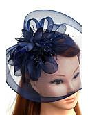 povoljno Stole za vjenčanje-Til / Perje / Net Fascinators / kape / Šeširi s Cvjetni print 1pc Vjenčanje / Special Occasion Glava