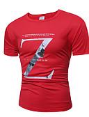 baratos Calças e Shorts Masculinos-Homens Camiseta Temática Asiática Sólido Algodão Decote Redondo