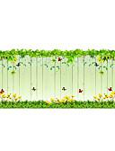 baratos Cintos de Moda-Floral Moderna Adesivo de Porta, PVC/Vinil Material Decoração de janela Sala de Jantar Quarto das Crianças Banheiros