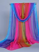 abordables Bufandas de Mujer-Mujer Estampado, Seda Rectángulo Arco iris / Bonito