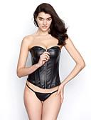 זול מחוכים ובוסטייה-בגדי ריקוד נשים קשירת רצועות בד מחוכים - אחיד, שרוכים לכל האורך שחור L XL XXL / סופר סקסי