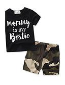 povoljno Kompletići za dječake-Dijete koje je tek prohodalo Dječaci Svečana odjeća Sport / Izlasci Geometrijski oblici Print Kratkih rukava Pamuk Komplet odjeće