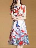 preiswerte Damen Kleider-Damen Anspruchsvoll Lose Kleid - Druck Knielang