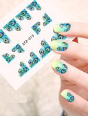 hesapli Gelin Şalları-5pcs/set Su Transferi Sticker tırnak sanatı Manikür pedikür Moda Günlük