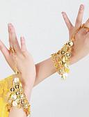 baratos Moda Íntima Exótica para Homens-Dança do Ventre Luvas de Dança Mulheres Espetáculo Metal Lantejoulas Braceletes