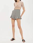 baratos Calças Femininas-Mulheres Moda de Rua Solto Shorts Calças - Quadriculada