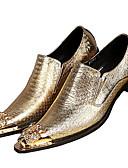 baratos Vestidos de Noite-Homens Sapatos formais Pele Napa Primavera / Outono Oxfords Dourado / Prata / Festas & Noite / Sapatas de novidade