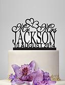 hesapli Gece Elbiseleri-Pasta Üstü Figürler Bahçe Teması / Klasik Tema Arkilik Düğün / Yıldönümü / Çeyiz Görme ile 1 pcs OPP