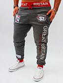 ieftine Maieu & Tricouri Bărbați-Bărbați Larg Activ Pantaloni Sport Pantaloni Chinos Pantaloni - Imprimeu, Scrisă