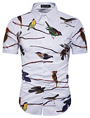 povoljno Muške košulje-Veći konfekcijski brojevi Majica Muškarci Dnevno / Vikend Pamuk Životinja Slim, Print / Kratkih rukava