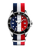 cheap Quartz Watches-SKMEI Men's Fashion Watch Wrist Watch Japanese Quartz 30 m Water Resistant / Water Proof Calendar / date / day Cool Fabric Band Analog Multi-Colored - Red Blue Pink