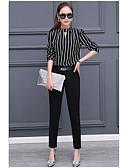 abordables Blusas para Mujer-Mujer Trabajo Camisa A Rayas