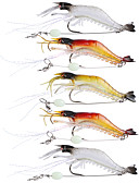 cheap Women's Sweaters-5 pcs Soft Bait Fishing Lures Fishing Hooks Craws / Shrimp Jerkbaits Soft Bait Soft Plastic Silicon Sea Fishing Fly Fishing Bait Casting