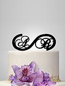 baratos Presentes de Casamento-Decorações de Bolo Tema Jardim / Tema Clássico / Tema rústico Monograma Acrílico Casamento / Aniversário / Chá de Cozinha com PPO