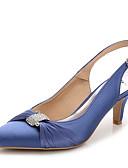ieftine Bolerouri de Nuntă-Pentru femei Pantofi Mătase / Nailon Vară / Toamnă Pantof cu Berete / Pantofi Club Sandale Toc Stilat Vârf ascuțit Piatră Semiprețioasă /