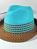 baratos Chapéus Femininos-Unisexo Festa / Férias De Palha / Chapéu de sol Listrado / Fofo