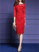 preiswerte Damen Kleider-Damen Übergrössen Hülle Kleid Solide