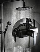 abordables Mini-jupe-Robinet de douche - Antique Bronze huilé Set de centre Soupape céramique