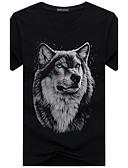 ieftine Maieu & Tricouri Bărbați-Bărbați Rotund - Mărime Plus Size Tricou Bumbac Imprimeu / Manșon scurt