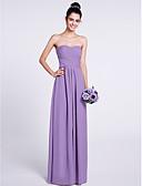 hesapli Nedime Elbiseleri-A-Şekilli Straplez Yere Kadar Şifon Haç ile Nedime Elbisesi tarafından LAN TING BRIDE®