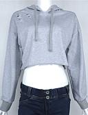 preiswerte T-Shirt-Damen Grundlegend Kapuzenshirt Solide
