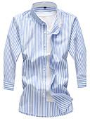 رخيصةأون تيشيرتات وتانك توب رجالي-للرجال قميص قطن مخطط, وردة ياقة واقفة