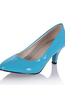 זול 2017ביקיני ובגדי ים-בגדי ריקוד נשים נעליים עור פטנט אביב / קיץ נעליים פורמלית עקבים עקב קצר בוהן מחודדת בז' / כחול כהה / כחול בהיר / שמלה
