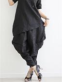 ieftine Pantaloni de Damă-Pentru femei Larg Larg / Picior Larg / Pantaloni Chinos Pantaloni Mată / Vară