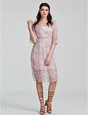 hesapli Kadın Elbiseleri-Kadın's Çan Elbise - Solid, Büzgülü