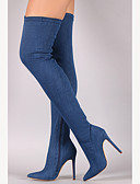 preiswerte Herren-Hosen und Shorts-Damen Schuhe Denim Jeans Frühling / Herbst Cowboystiefel / Westernstiefel / Modische Stiefel / Slouch Stiefel Stiefel Stöckelabsatz