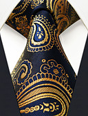 cheap Men's Ties & Bow Ties-Men's Party Work Basic Rayon Necktie - Color Block Paisley Jacquard Basic