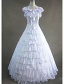 זול הינומות חתונה-גותיות ויקטוריאני ימי הביניים תחפושות בגדי ריקוד נשים שמלות תחפושת למסיבה נשף מסכות וינטאג Cosplay שיפון כותנה ללא שרוולים כובע עד הריצפה מידות גדולות מותאם אישית