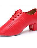 cheap Men's Blazers & Suits-Men's Latin Leatherette Heel Performance Low Heel Red Customizable