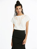 cheap Women's T-shirts-Women's Blouse - Solid Colored Cut Out / Spring / Summer