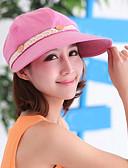 זול כובעים לנשים-כובע עם שוליים רחבים / כובע בייסבול / כובע שמש - אחיד כותנה / תחרה בגדי ריקוד נשים / חמוד / קיץ / סתיו