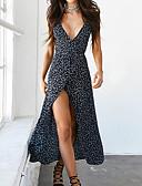 baratos Vestidos de Mulher-Mulheres balanço Vestido Sólido Decote V